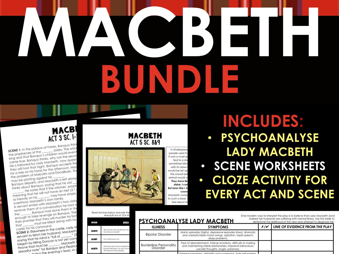 MACBETH GROWING BUNDLE - Full of Worksheets, Activities and Engaging Tasks!