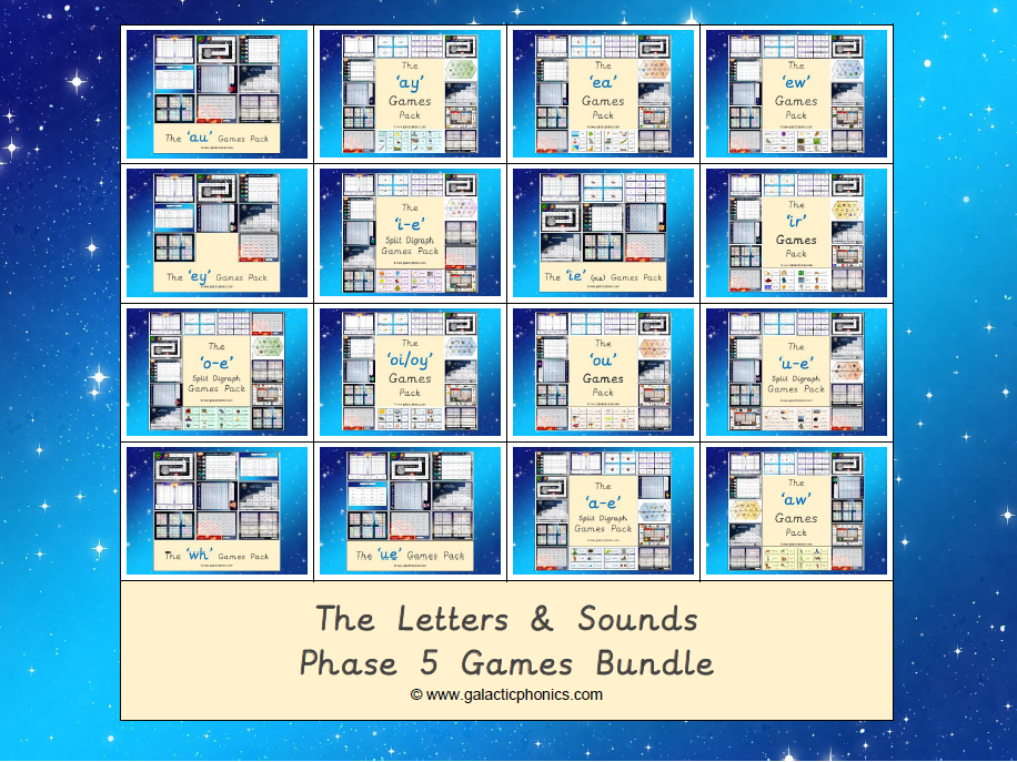 The Letters & Sounds Phase 5 Games Bundle