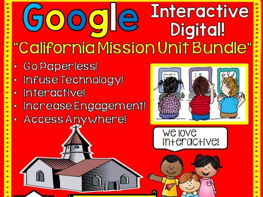 Google Drive California Missions Unit Interactive Notebook For Google Classroom