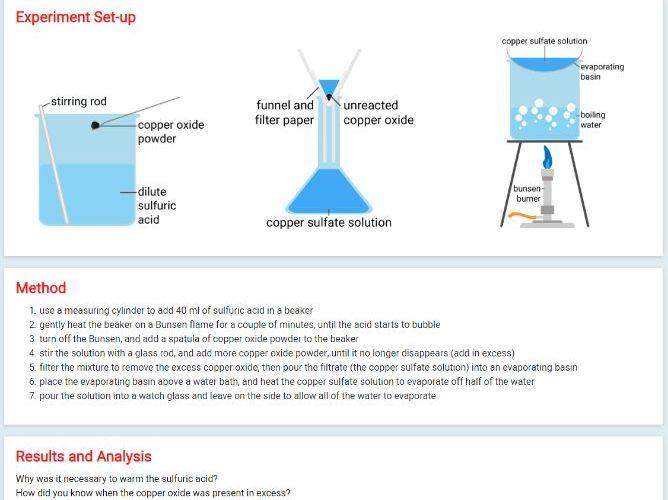 Edexcel Chemistry: Preparing copper sulfate (Core Practical 3)