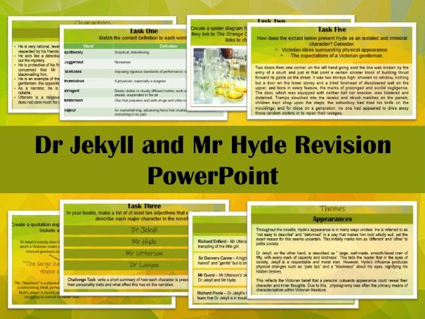 Dr Jekyll and Mr Hyde Revision PowerPoint / Lesson