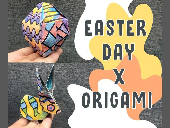 Easter X Origami Art Activity (2 template designs)