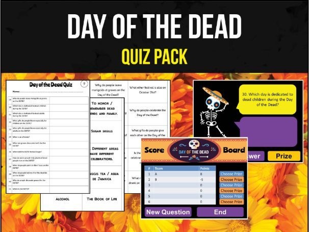 Day of the Dead / Halloween Quiz Pack