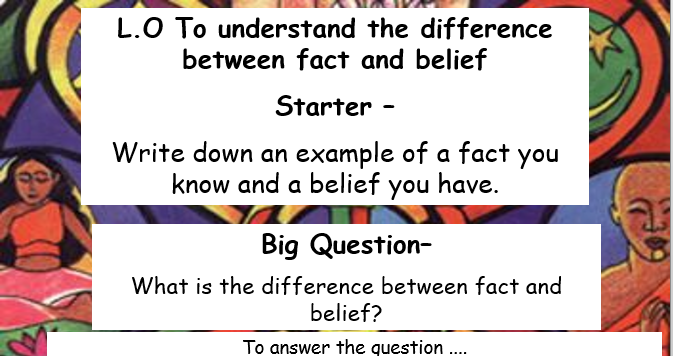 What is belief lesson
