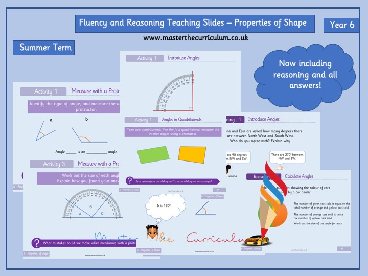 Year 6- Geometry - Properties of Shape- Fluency and Reasoning Teaching slides for White Rose