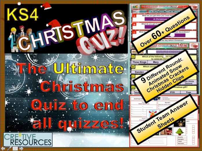 Ultimate KS4 Christmas Quiz 2018