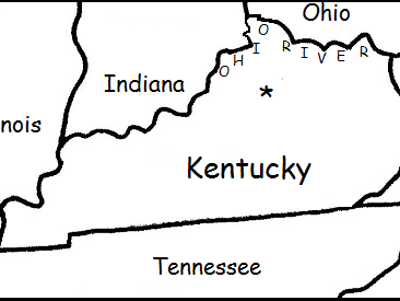 Kentucky - Printable handouts with map and compass