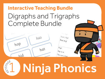 Phonics Digraphs and Trigraphs Complete Bundle