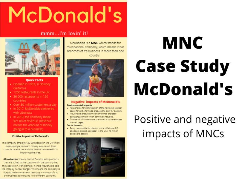 McDonalds Geography Case Study