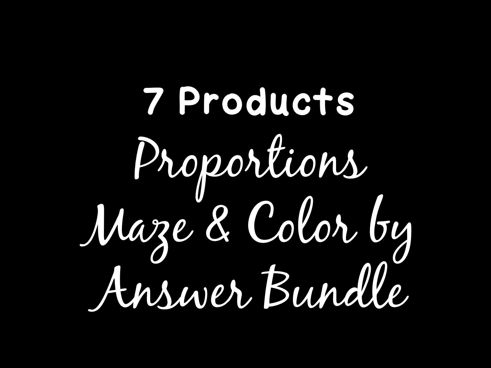 Proportions Maze & Color by Answer Bundle