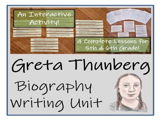 UKS2 Literacy - Greta Thunberg Biography Writing Unit