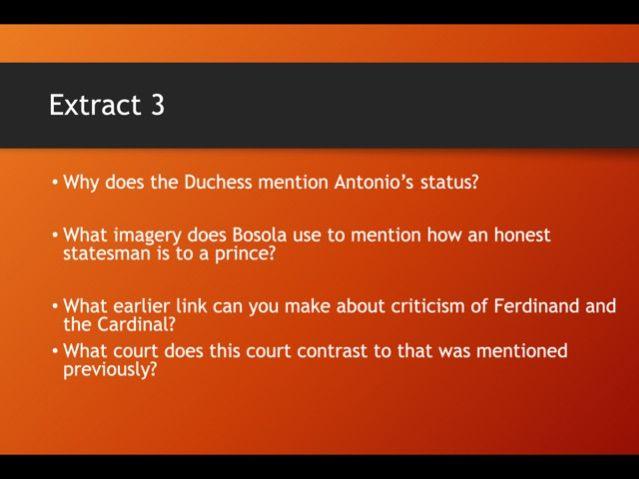 Bosola's monologues - The Duchess of Malfi