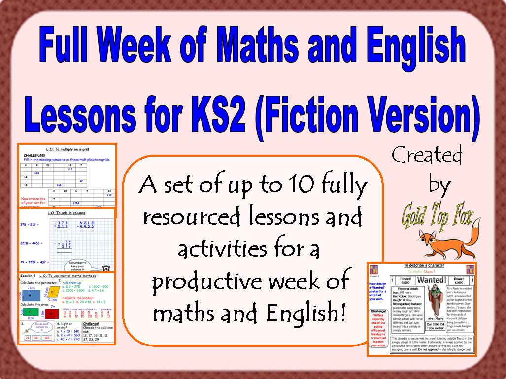 Full Week of Maths and English Lessons for KS2 (Fiction Version)
