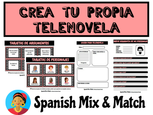 CREATE YOUR OWN SPANISH SOAP OPERA (TELENOVELA)