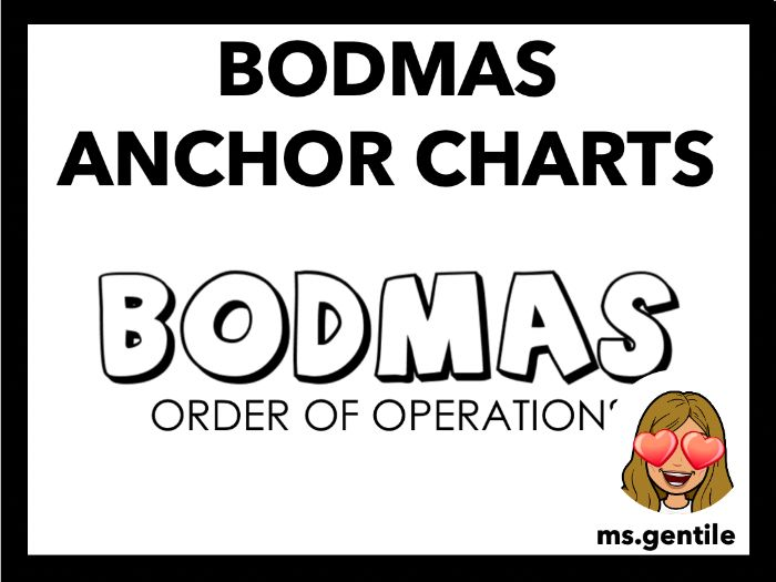 BODMAS Anchor Chart Poster (Order of Operations)
