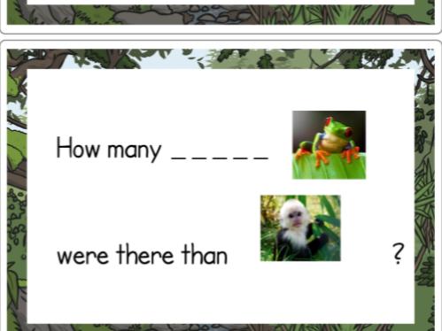 Year 1 Tally Charts using Jungle animals and handling data