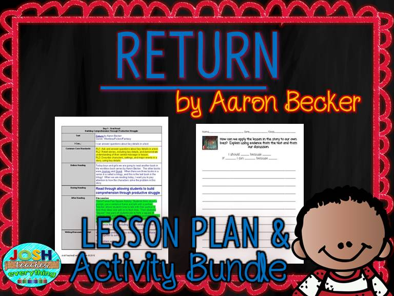 Return by Aaron Becker Lesson Planner and Activities