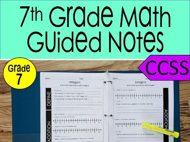 7th Grade Math Guided Notes Bundle