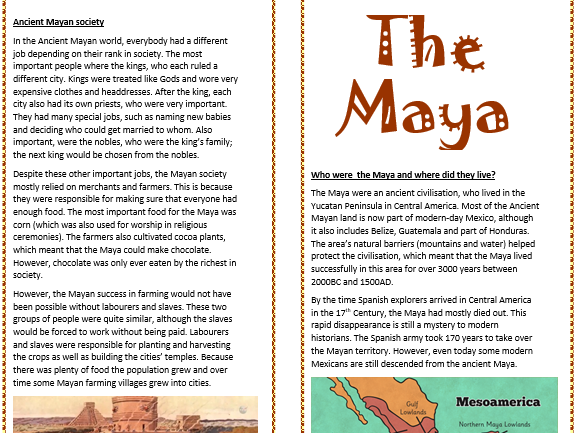 The Ancient Maya fact planning
