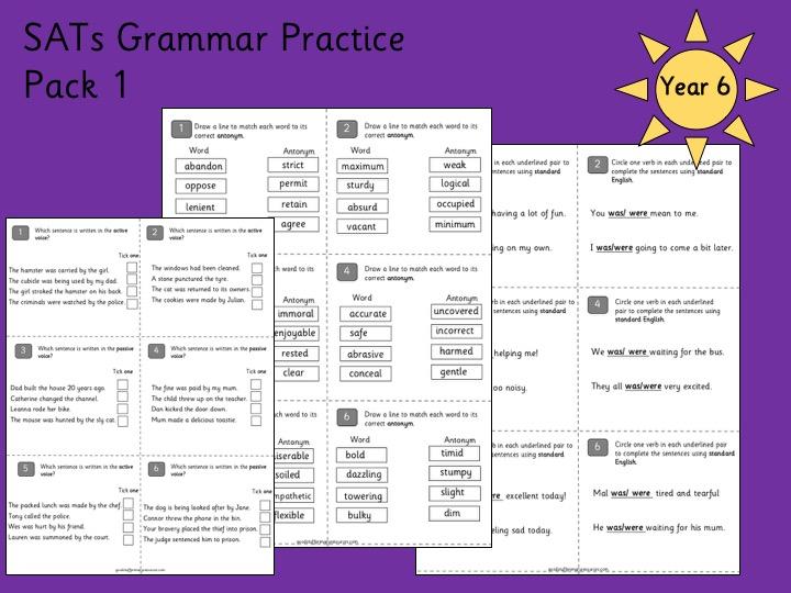Year 6 SATs Grammar Practice