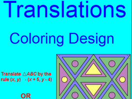 TRANSFORMATIONS:   TRANSLATIONS # 2 - COLORING ACTIVITY