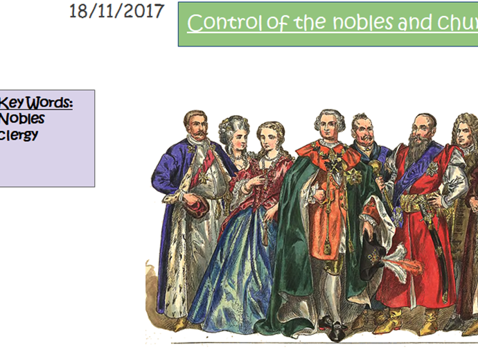 How William controlled the nobles and the church Key stage 3
