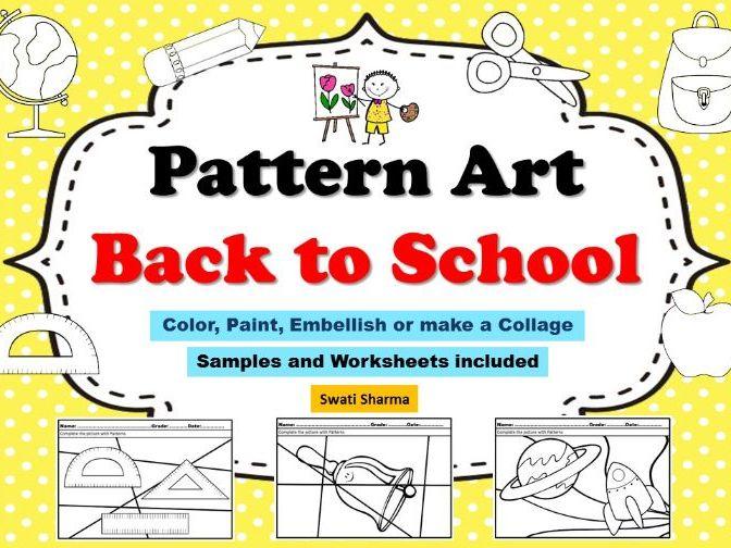 Art Project Pattern Art Pop Art Back to School Worksheets