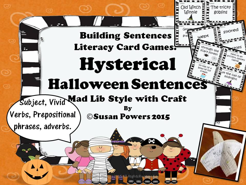 Hysterical Halloween Sentences Activity