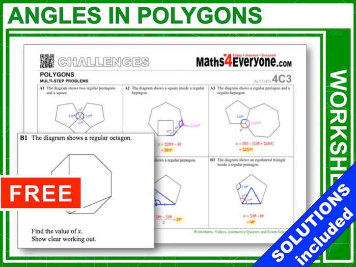 Angles in Polygons (Challenges – Part 1)