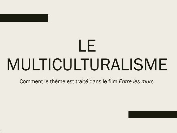 Entre les murs - multiculturalism & related tension