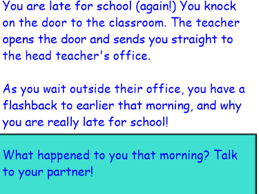 Flashback narrative KS2 Late to school
