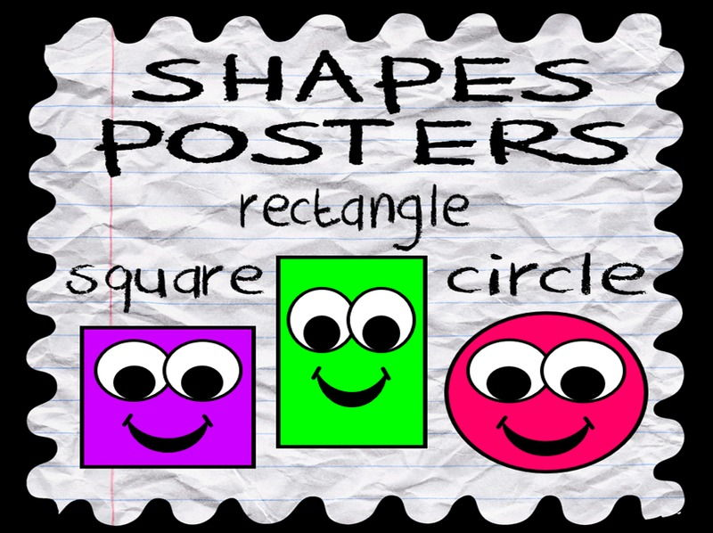 SHAPES POSTERS 2D classroom display maths geometry