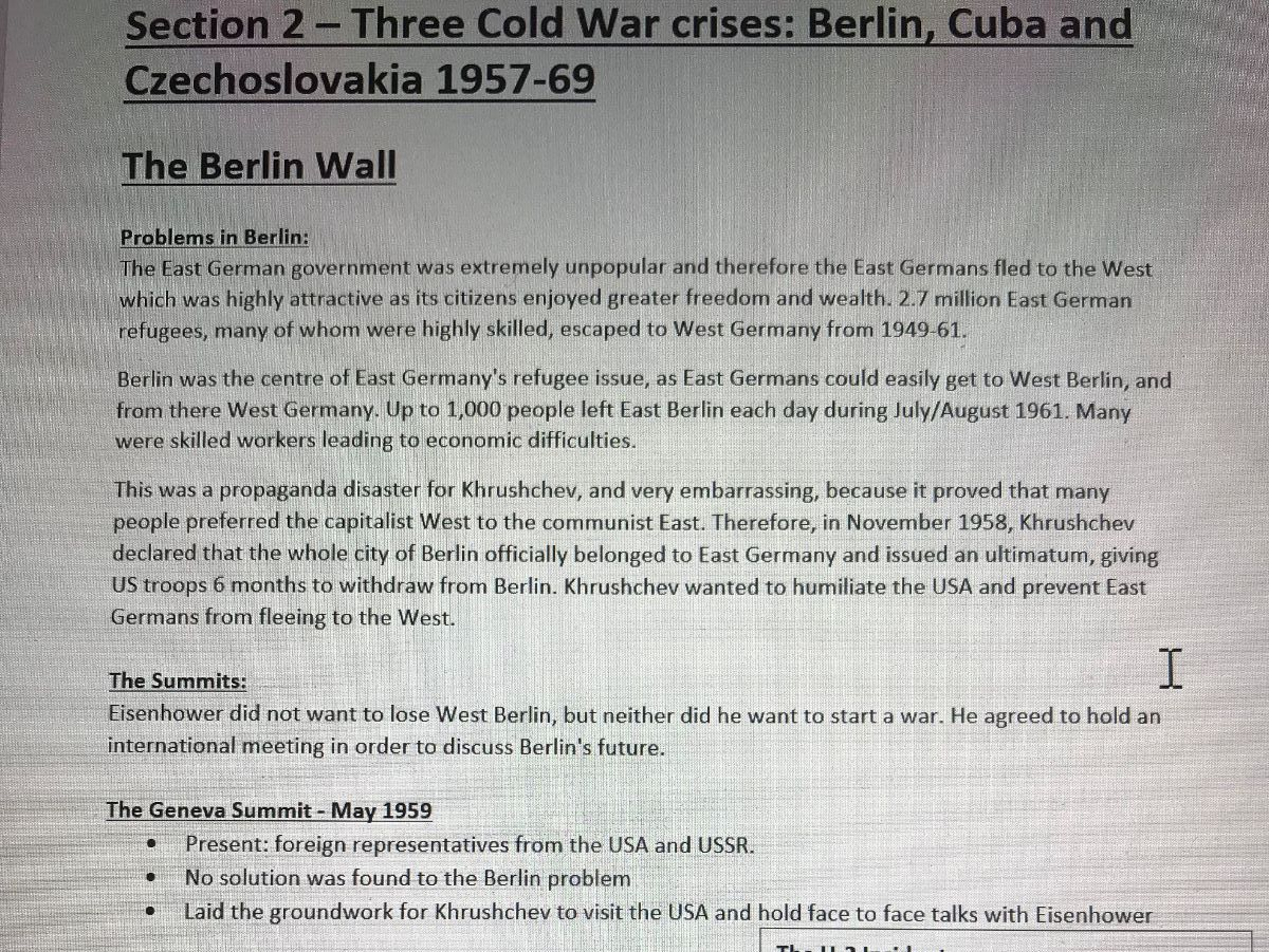 Complete paper: Henry VIII and Cold War Notes : Guaranteed 9/8/A*