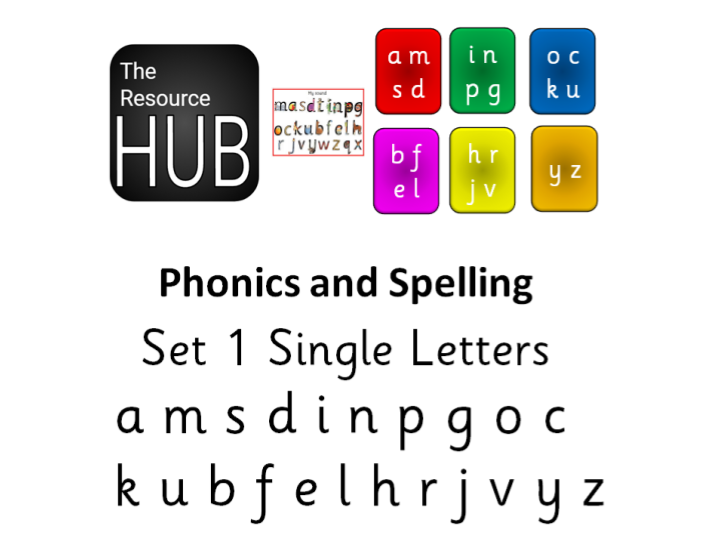 Phonics Set 1 Read Write Inc for KS1 A M S D I N P G O C K U B F E L H R J V Y Z
