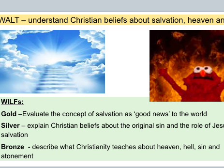 KS4 Christian Beliefs in Salvation, Heaven and Hell (AQA Spec A)