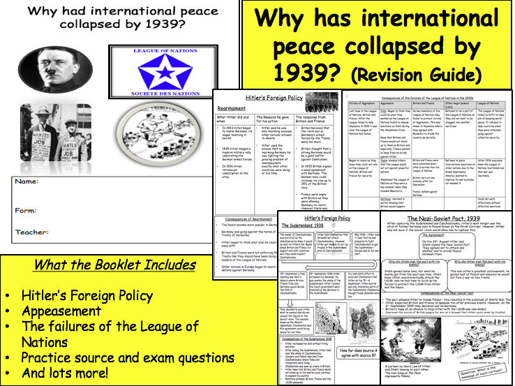 why had international peace collapsed in