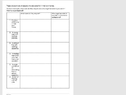 Health and Social Care Component 2 part A  workbook 2 (BTEC Tech)