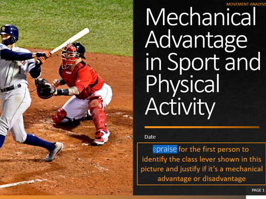 2. Mechanical Advantage in Sport and Physical Activity