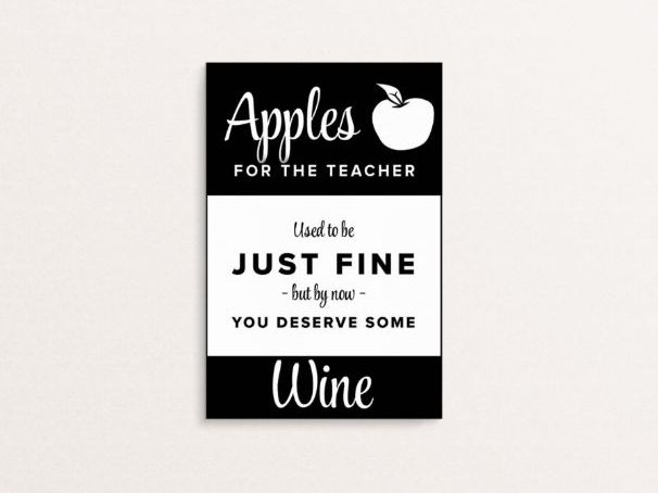 Teacher Appreciation - A6 Labels