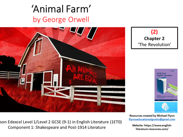 GCSE Literature: (2) 'Animal Farm' – Chapter 2