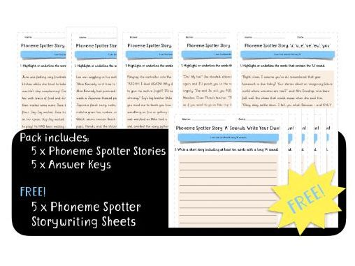 Phoneme Spotter Story Bundle: Long Vowel Sounds