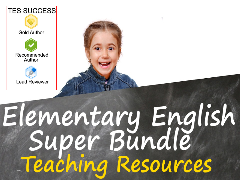 Elementary English  (ESL) School Bundle