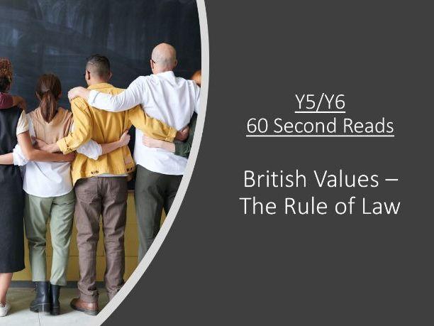 British Values - UKS2 60 Second Reads (SAMPLE)