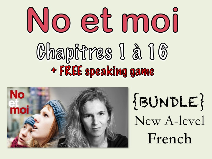 No et MOI - Etude des chapitres 1 à 16 + speaking game and essay planing offered
