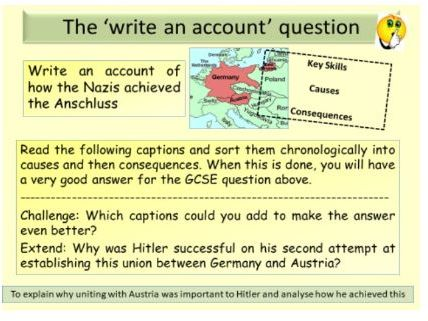 AQA GCSE 9-1 Conflict and Tension 1918-1939: The Anschluss with Austria, 1938
