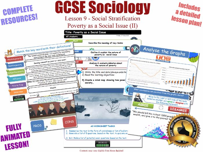 Poverty as a Social Issue (II) - Social Stratification -L9/20 [ WJEC EDUQAS GCSE Sociology ]