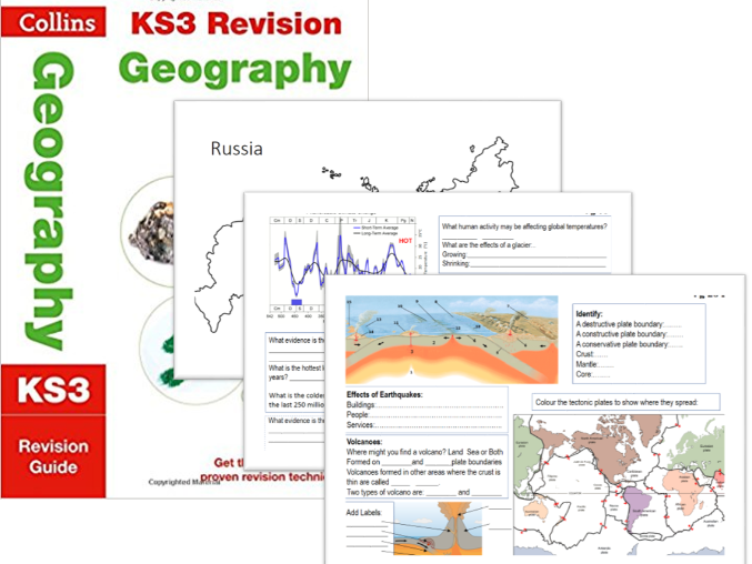 Worksheets supporting Collins Geography KS3 book. Ideal Homework Physical Characteristics