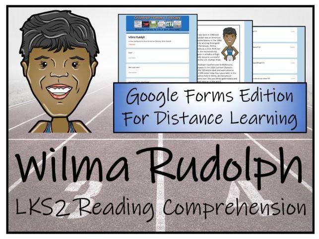 LKS2 Wilma Rudolph Reading Comprehension Activity   Digital & Print
