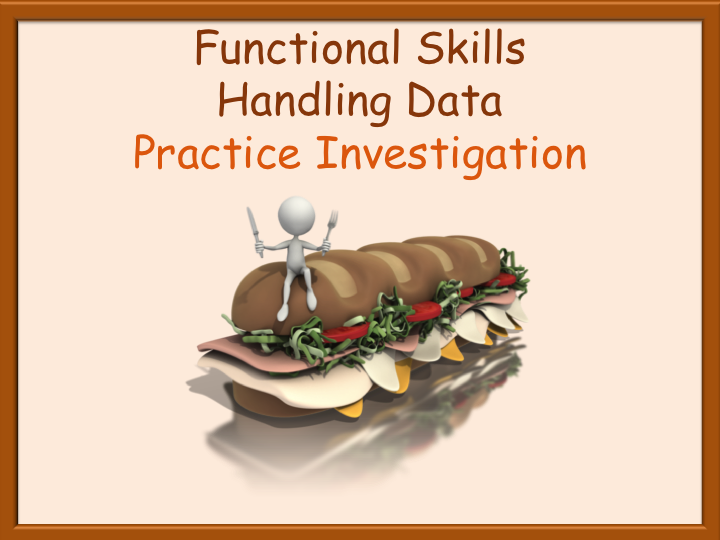 Handling Data Practice Investigation - Small Business - Functional Skills L1