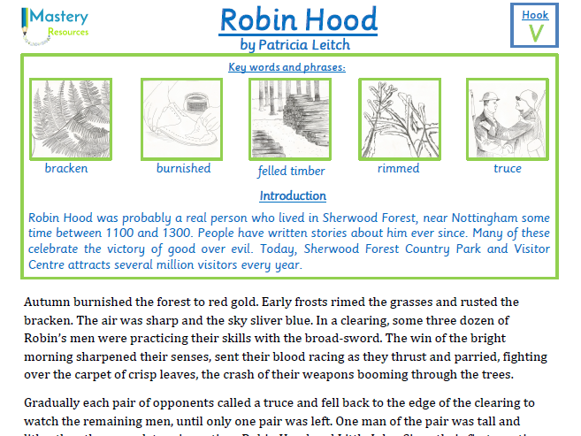 Robin Hood by Patricia Leitch Comprehension KS2